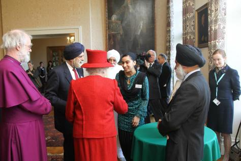 2012: Queen's Diamond Jubilee: Representing UK Punjab Heritage Association at Lambeth Palace - Multi-faith Reception with the Queen, Duke of Edinburgh & Archbishop of Caterbury