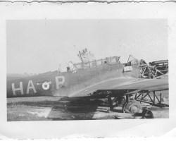 Fairey Battle L5192 HA-P abandonné sur le terrain présumé d'Auberive.