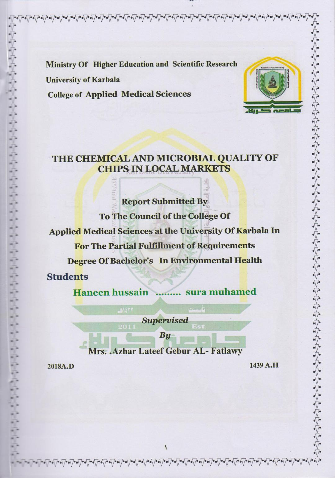 The Chemical and Microbial