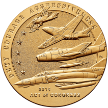 """American Fighter Aces"", Congressional Gold Medal, 2014, United States Mint"