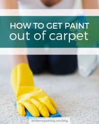 How To Get Paint Out Of Carpet - Amsberry's Painting