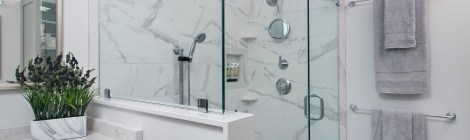 Shower - Luxury in Gray & White