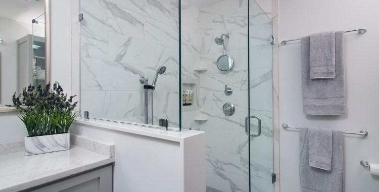 Shower - Luxury in Gray & White