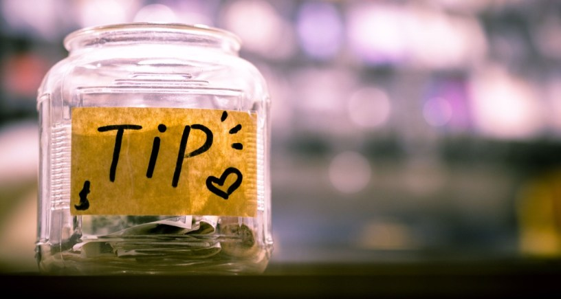 tip jar for pizza delivery drivers