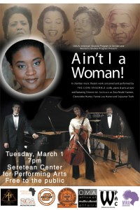 Performance: Core Ensemble, Ain't I a Woman? @ Seretean Center for the Performing Arts | Guthrie | Oklahoma | United States