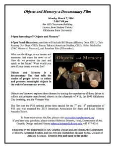 Film: Objects & Memory (Panel Discussion to Follow) @ CLB 102