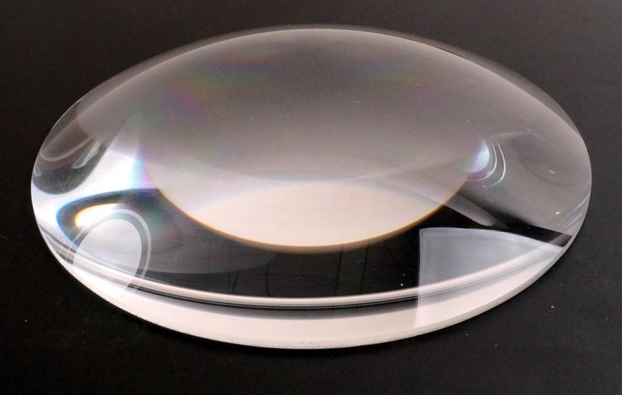 Lentille PC diam 200 ref OP20010006- R178 ROBERT JULIAT -verre blanc - pour HPC 310-29/39