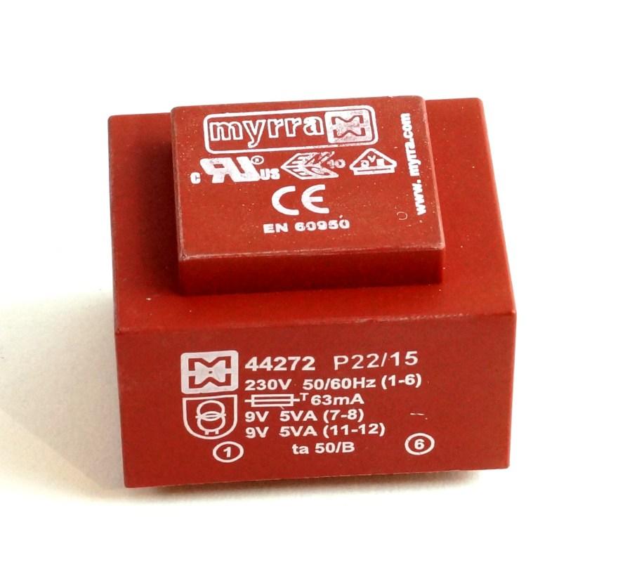 Transformateur 230V - 2X9V - 10VA -MYRRA 44272