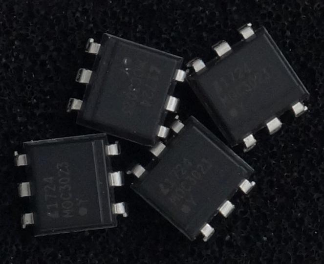 MOC3023 optocoupleur pour gradateurs avec triac