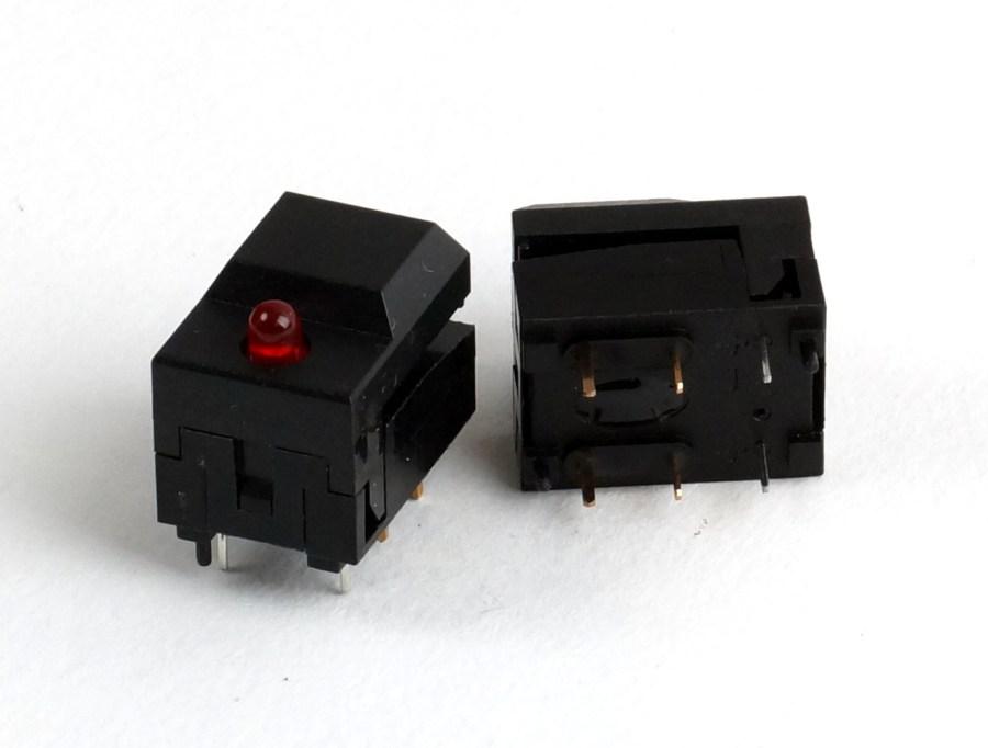 Switch congo JR/KID ETC bouton fugitif avec led rouge ref S618-F