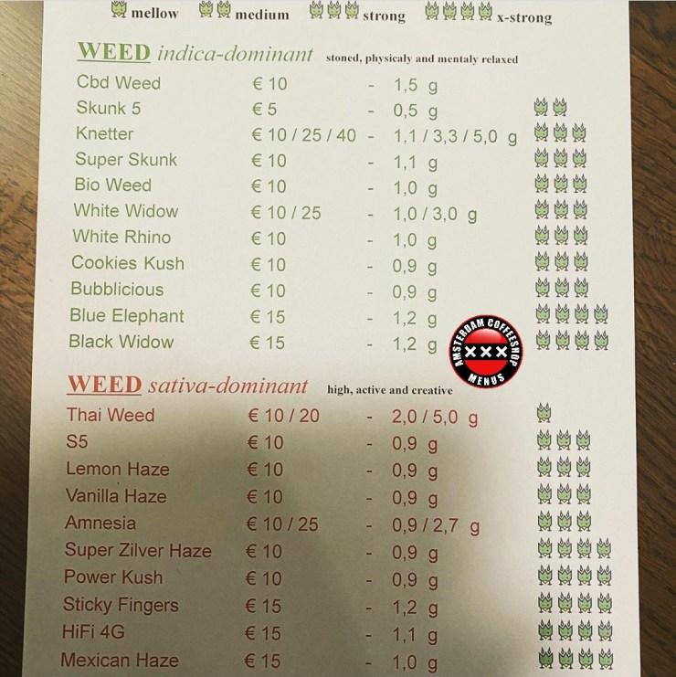 Coffeeshop Birdy menu Haarlem