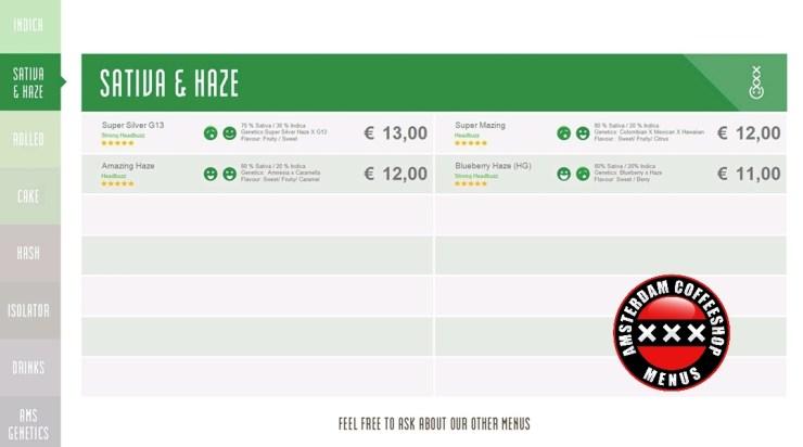 Coffeeshop boerejongens menu