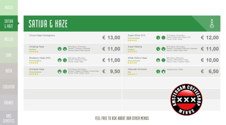 Coffeeshop boerejongens west menu
