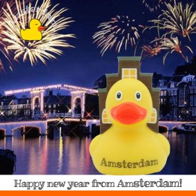Have a ducky 2017 from all of us in Amsterdam! @amsterdamduckstore