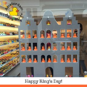 On  April 27th it's King's Day! Huge party all over Amsterdam.