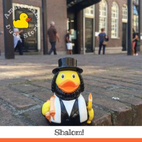 Rabbi visiting @ Joods historisch museum (Jewish historical museum) Amsterdam