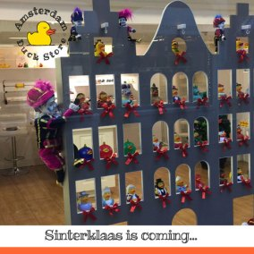 Getting ready for Sinterklaas. December, 5th is thé day for Dutch children to receive presents.