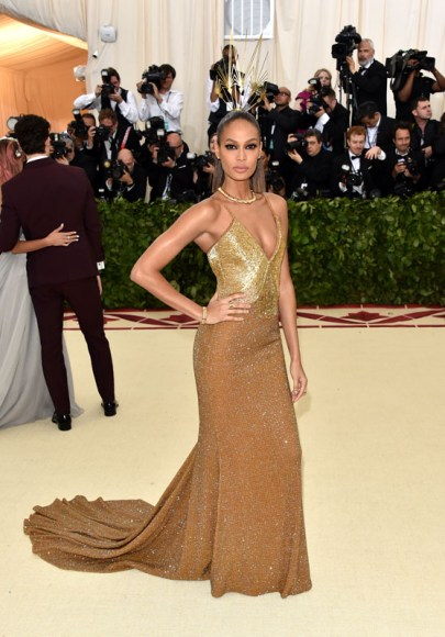 NEW YORK, NY - MAY 07:  Joan Smalls attends the Heavenly Bodies: Fashion & The Catholic Imagination Costume Institute Gala at The Metropolitan Museum of Art on May 7, 2018 in New York City.  (Photo by John Shearer/Getty Images for The Hollywood Reporter)