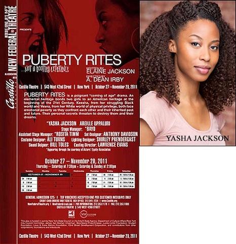 'Puberty Rites' in its last week (39813)