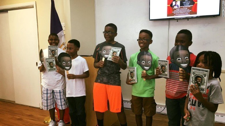Sidney Keys III noticed there were no books about African-American culture at his school. (237999)
