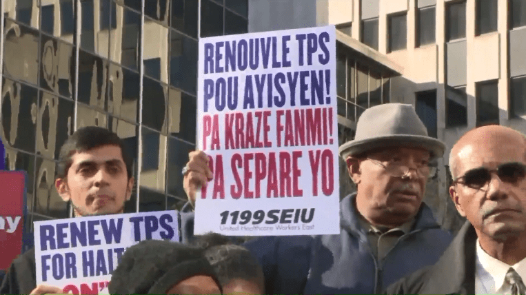 Haitian immigrants protest ending of TPS. (252031)