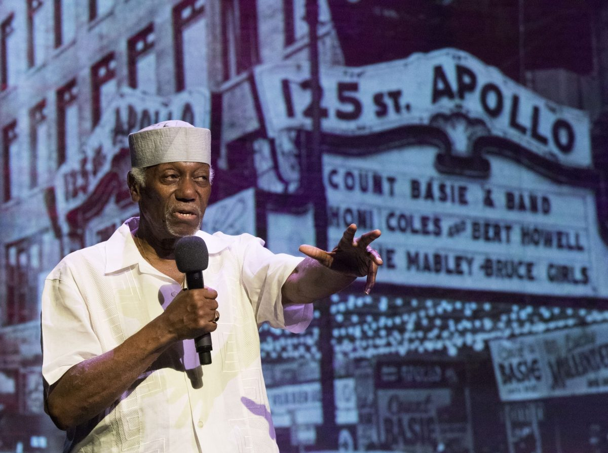 Herb Boyd speaks at the Apollo Theater (283651)