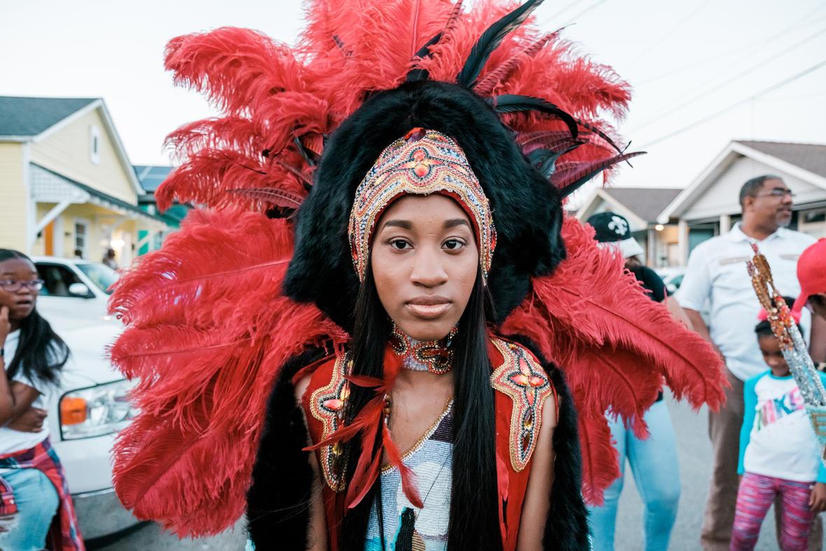 Tahj Williams in a costume she created (304298)