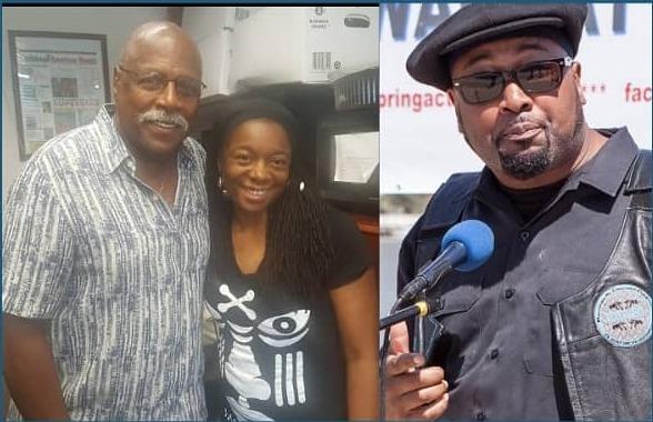 AmNews Editor Nabaya Arinde and activists Omowale Clay and Fred Hampton Jr. (304748)
