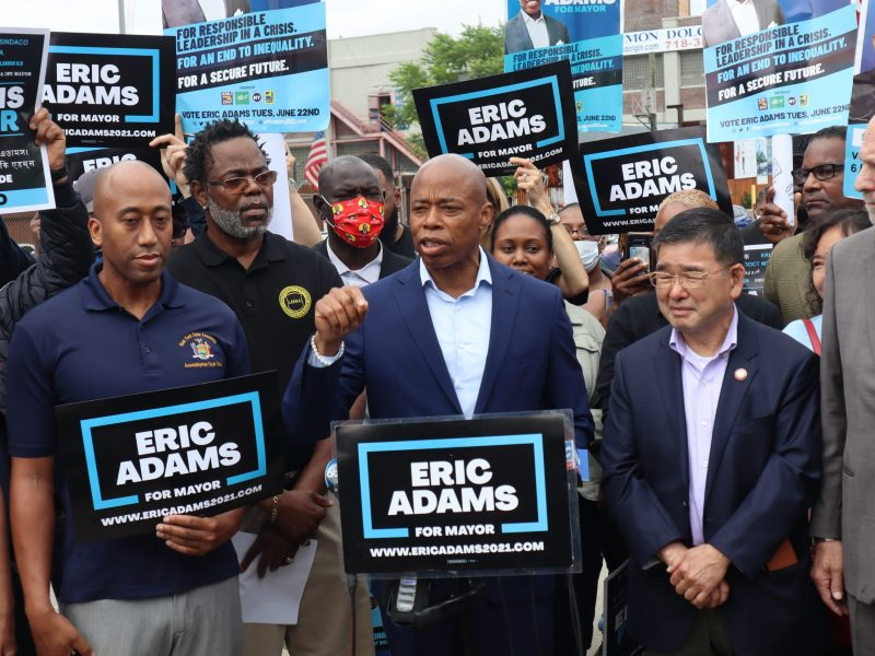 Eric Adams stands with sanitation enforcement after worker accused the Sanitation Department of Discrimination (305587)