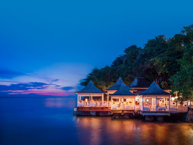 Enjoy a candlelit dinner at Bayside Restaurant at Couples Tower Isle in Ocho Rios, Jamaica. (306259)