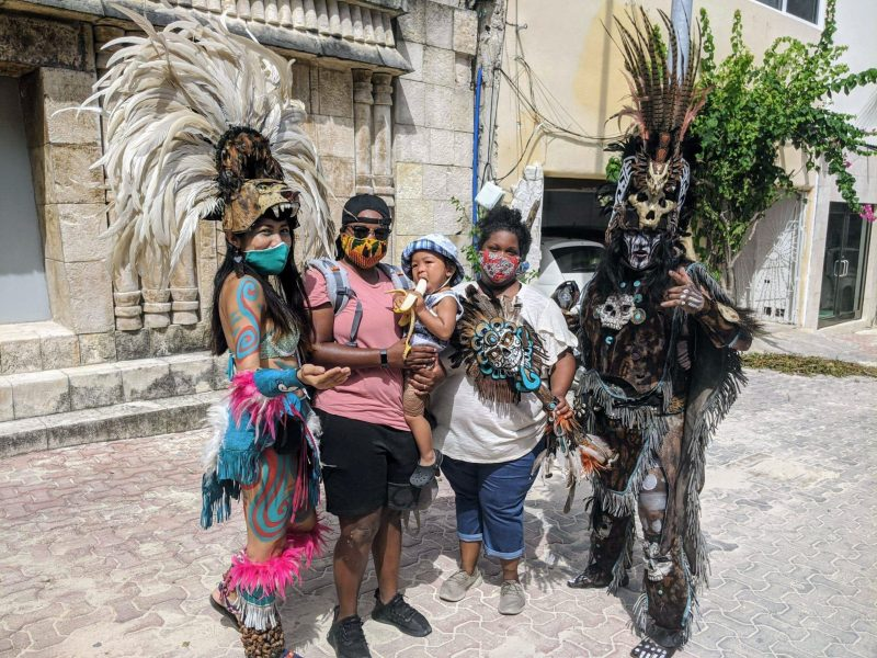 Corritta Lewis and Shimea Hooks with their son in Mexico (308241)