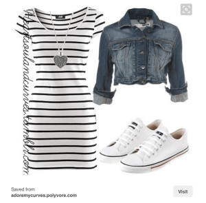 dutch style guide recommends striped dress white sneakers