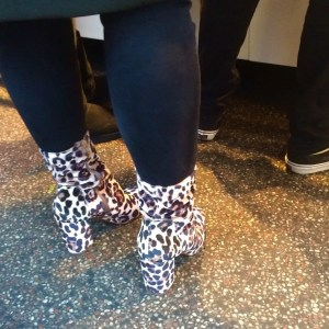 dutch style leopard skin boots