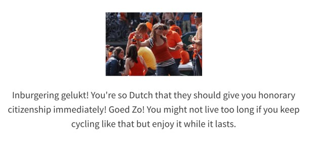 The majority of expats cycle like the Dutch