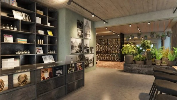 The Hut Amsterdam lobby area