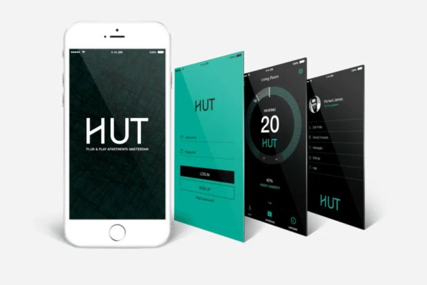 The Hut Amsterdam smartphone app