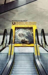 Advertising National Geographic escalator ad