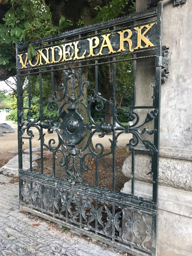 Amsterdam with kids - the gates of the Vondelpark