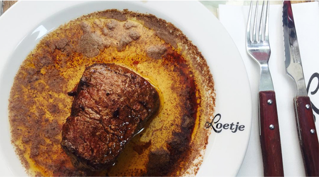 A steak at Loetje Amsterdam