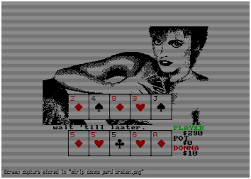 Jouer au strip poker sur Amstrad