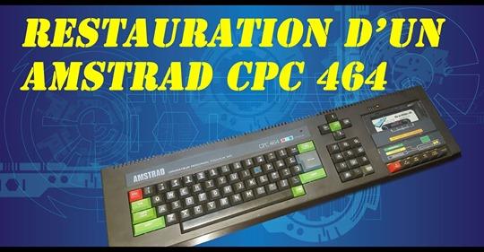 Restauration d'un cpc 464. Lecteur cassette et clavier en piteux état