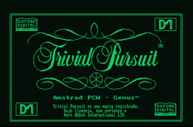 Trivial Pursuit, Amstrad PCW
