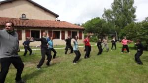 """Stage de Qi gong """"Les huit pièces de Brocart"""" à Gorze (20km de Metz), juin 2015 : deuxième pièce"""