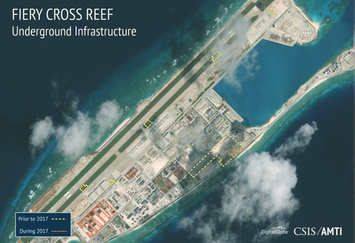 Fiery Cross Reef, November 19, 2017