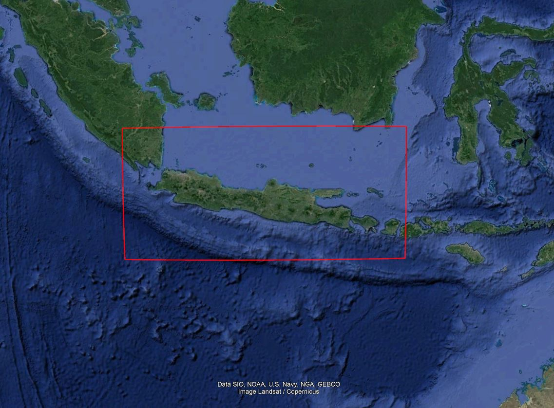 Indonesia's existing but little-publicized ADIZ dates back to the 1960s. Base map from Google Earth