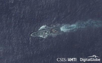 A Zhaotim-class CCG patrol ship near Subi Reef, October 30, 2017.