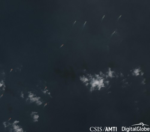 Ships transiting from Subi Reef to Thitu Island, Dec 20 2018