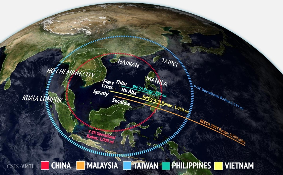 Air Ranges in the South China Sea