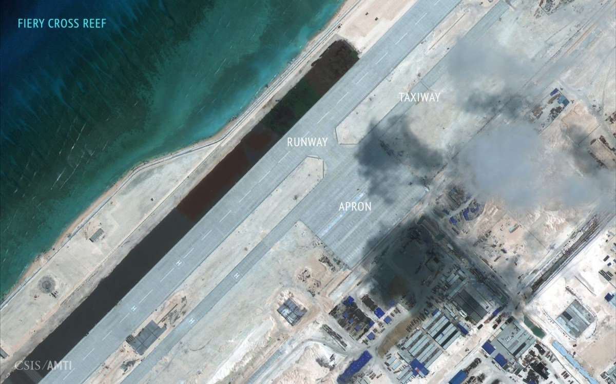 Fiery Cross Reef, September 3, 2015