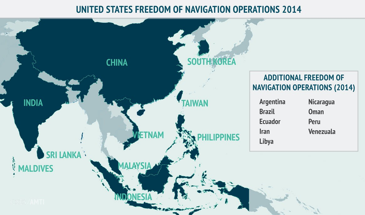 United States Freedom of Navigation Operations 2014